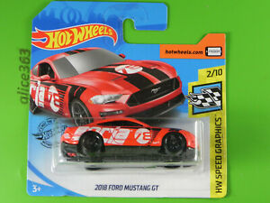 Hot Wheels 2020 - 2018 Ford MUSTANG Gt - Speed Graphic - 92 - New Original