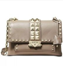 ❤️ Michael Kors Cece Studded Leather Chain Truffle/Gold Shoulder Bag