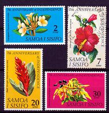 SAMOA I SISIFO 1969 ☀ Independence / flowers ☀ full set / 3 MNH + 1 used