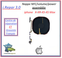 nappe nfc/qi+power/on-off+volume assemblé iphone x/xs/xr/xs max