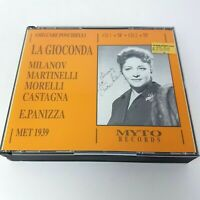 Ponchielli LA GIOCONDA 2 CD Box (1991) MYTO Records Milanov Martinelli MET 1939