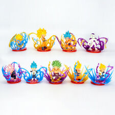 9 Pcs Dragon Ball Z Super Saiyan Son Goku Vegeta Broly Frieza Statue Figure Toys