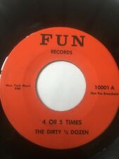 """RARE Obscure Ohio Rockabilly 45/ The Dirty 1/2 Dozen """"4 Or 5 Times""""  Clean  Hear"""