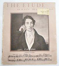 """SHEET MUSIC """" THE ETUDE MAGAZINE """" DATED 1948"""