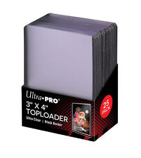 Ultra Pro BLACK TOPLOADER 25 Rigid Card Protector Pokemon Yugioh TOP LOADERS