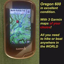 Garmin Oregon 600 for Boating Navigation Hiking + WORLDWIDE MAPS