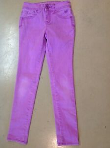 Justice Shine Bright Girls Size 10S Purple Lavender Simply Low Stretch Jeans