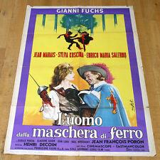L'UOMO DALLA MASCHERA DI FERRO manifesto poster Jean Marais Salerno Cappa g7