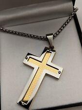 Navidad/Regalo De Cumpleaños Plata/Oro Crucifijo Cruz Collar Grabado Gratis