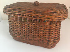 Homemakers Idea Company woven natural basket w/ LID, Signature Collection, NWT