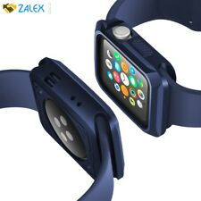 Case Screen Protector For Apple Watch 42mm Rugged Sport iWatch Midnight Blue New