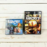 FAR CRY & FAR CRY 2 PC CD/DVD-ROM Video Games by Ubisoft