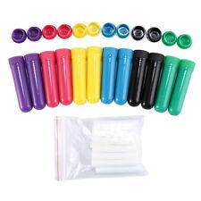12 Empty Complete Sticks Essential Oil Aromatherapy Blank Nasal Inhaler Tubes