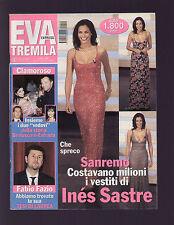 EVA 3000 10/2000 INES SASTRE MAX BIAGGI ANNA FALCHI RAOUL BOVA CLAUDIA SCHIFFER