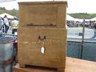 C1840 GRAIN painted FALCONRY transport wood box 32 h