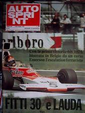 Autosprint 20 1974 Manifesto 2 pagine Matra - Simca. Polemica della rallypista