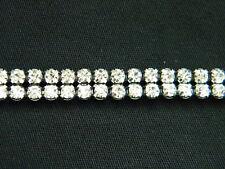 Crystal Rhinestone Banding Trim Silver~2 Row~50% Off