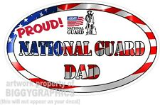 NATIONAL GUARD DAD VINYL DECAL PROUD