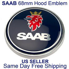 "Saab 9-3 9-5 Front Hood Emblem Badge 68mm 2.625"" 5289905 US SELLER FREE SHIPPING"