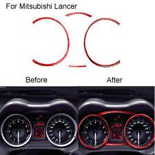 Red Carbon Fiber Speedometer Panel Cover Trim For Mitsubishi Lancer 2008 2015
