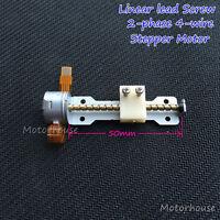 2-Phase 4-Wire DC 5V Micro Stepper Motor 50MM linear screw lead nut slider block