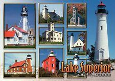 Lake Superior Lighthouses, Michigan, Wisconsin, Minnesota -- Lighthouse Postcard