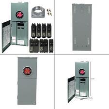 homeline 200 amp 20-space 40-circuit outdoor ring-type overhead main breaker c