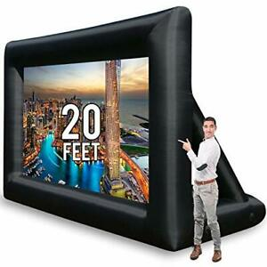 KHOMO GEAR Huge Inflatable Theater Projector Screen for Outdoor and Indoor Movie