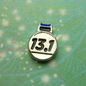 13.1 Sports Medal - Silver Charm for Story Lockets Necklaces