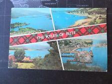 The Kyles of Bute, 4 views. Postcard 1974