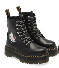 Dr.Martens JADON HELLO KITTY 8 hole boots ladies collaboration black Size7US 5UK