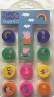 Peppa Pig Pack Of 10 Erasers Birthday Party Bag Fillers Stationery Gifts XMAS