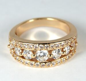 Women's Rose Gold plated clear Crystal Band ring