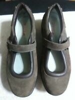 MBT Women's US 10 Brown Leather Mary Jane Rocker Toning Shoes. Top condition