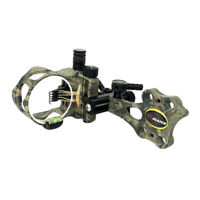 """Micro Adjust 5Pin .019"""" Compound Bow Archery Sight Short Pole-Camouflage"""
