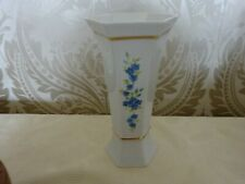 Vintage Retro China Vase Forget me knots 19cm Tall