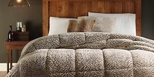 New CANNON White Faux Fur Comforter King Machine Washable
