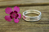 Set of Three Sterling Silver 1.5mm Smooth Stacking Rings