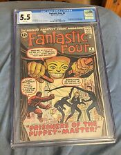 Fantastic Four #8 (5.5 White Pages) CGC VHTF 1st Puppet Master & Alicia Masters