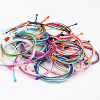 Assorted Color Handcraft Weave Wax Braided Rope Bracelet Women Charm Jewelry