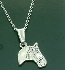 ONE Silver Horses Head Necklace, Horse Jewellery, Horse Gifts, UK SELLER