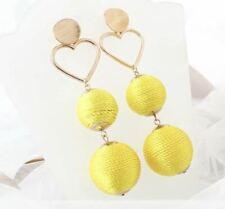 Long Dangle Drop Ball Earring Gold Exaggerate Big Jewellery New Fashion UK