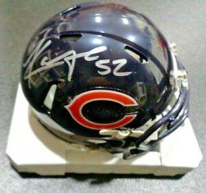 Khalil Mack Chicago Bears signed Autographed Mini Helmet