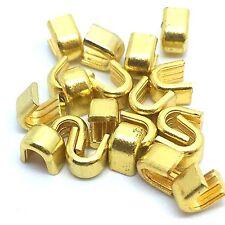 20 Golden #8 Top Stop Staple for Metal/Brass Zips