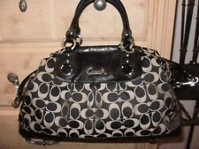 Coach Ashley F15440 signature black satchel Medium/Large with long strap
