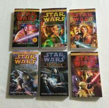 Star Wars Saga: Clone Wars Novel Series: Complete 6 Book BRAND NEW Paperback Lot