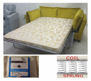 Replacement Luxury Sprung Sofa Bed Mattress 115cm - New Spring - Sofabed Gallery