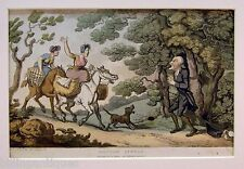ENGRAVING DR.SYNTAX  ROWLANDSON  DR.SYNTAX BOUND BY HIGHWAYMEN  ACKERMANS 1813