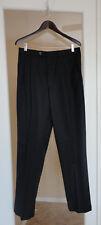 Brandini Men's Dress Work Pants Trousers Black 33 Waist 100% Wool New!