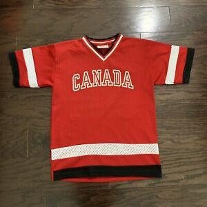 Vintage Canada NHL Ice Hockey Authentic Jersey Youth Size 14 Baseball Jersey Vtg